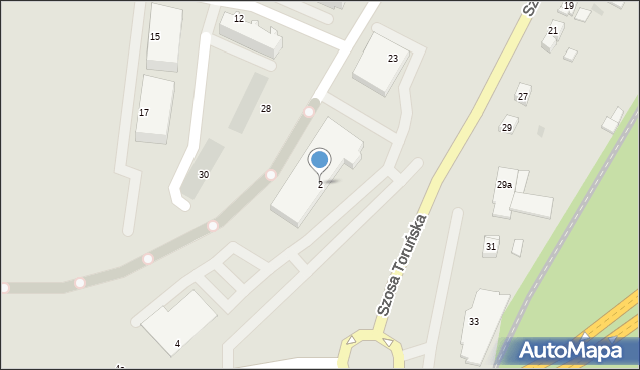 Grudziądz, Rataja Macieja, 2, mapa Grudziądza