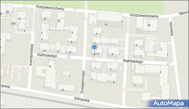 Kołobrzeg, Rafińskiego Teodora, prof., 8, mapa Kołobrzegu
