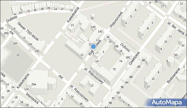 Kołobrzeg, Ratuszowa, 1, mapa Kołobrzegu