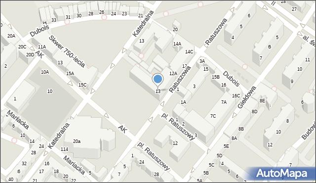 Kołobrzeg, Ratuszowa, 13, mapa Kołobrzegu