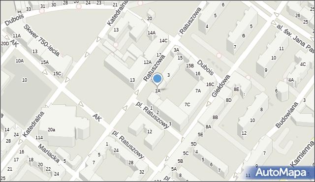 Kołobrzeg, Ratuszowa, 1A, mapa Kołobrzegu