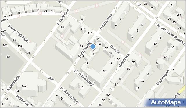 Kołobrzeg, Ratuszowa, 3, mapa Kołobrzegu