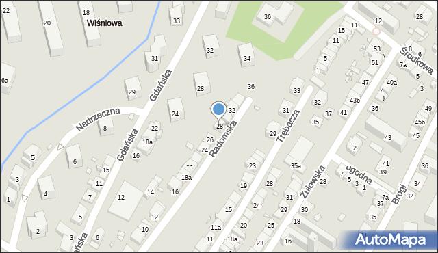 Kraków, Radomska, 28, mapa Krakowa