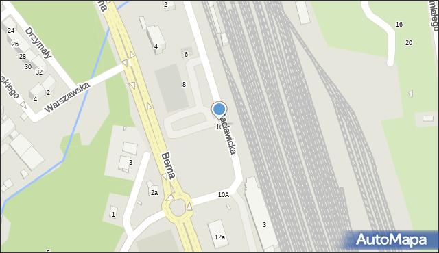 Nysa, Racławicka, 10, mapa Nysy