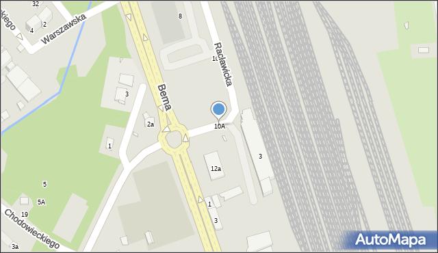 Nysa, Racławicka, 10A, mapa Nysy