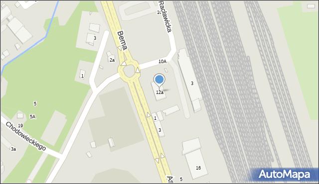 Nysa, Racławicka, 12a, mapa Nysy