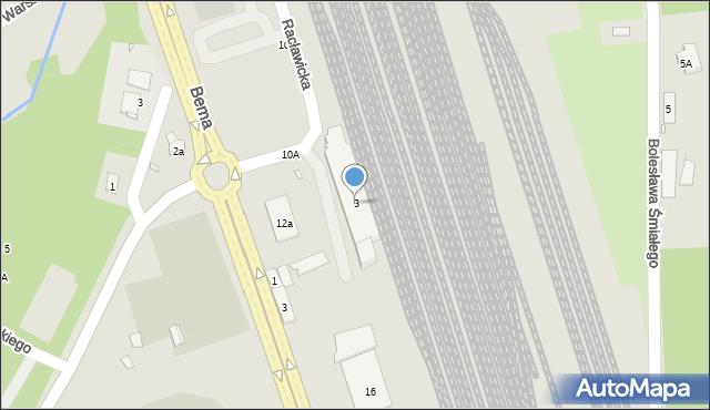 Nysa, Racławicka, 3, mapa Nysy