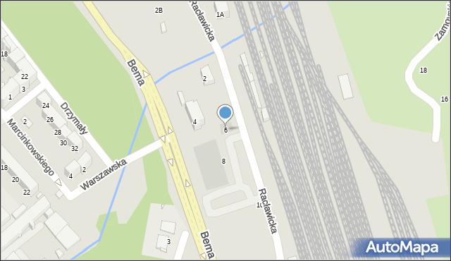 Nysa, Racławicka, 6, mapa Nysy