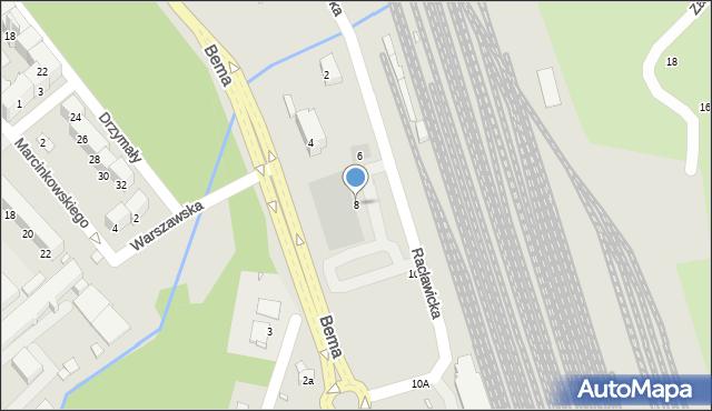 Nysa, Racławicka, 8, mapa Nysy