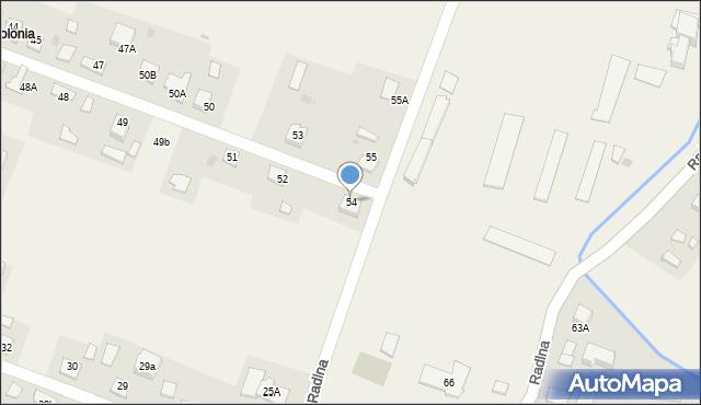 Radlna, Radlna, 54, mapa Radlna