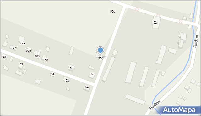 Radlna, Radlna, 55A, mapa Radlna