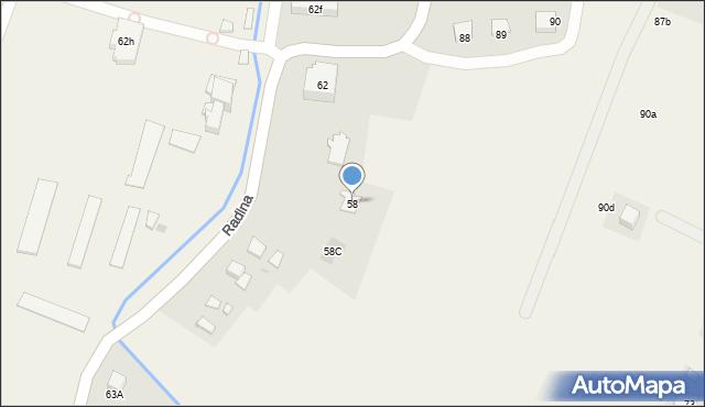 Radlna, Radlna, 58, mapa Radlna