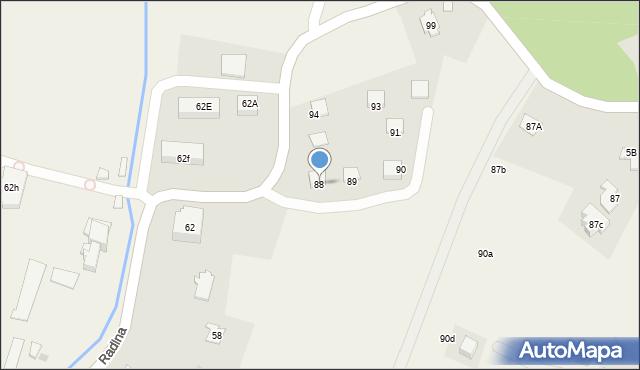 Radlna, Radlna, 88, mapa Radlna