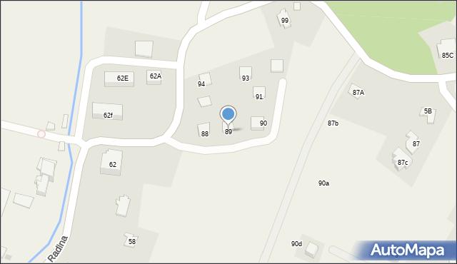 Radlna, Radlna, 89, mapa Radlna