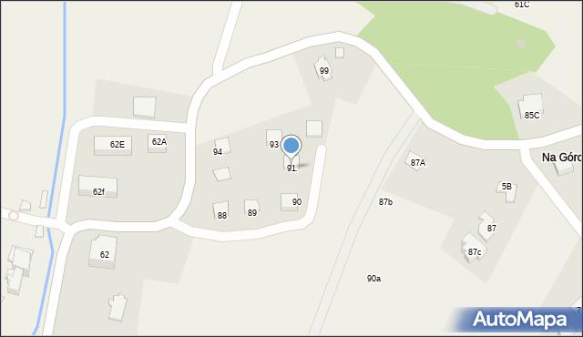 Radlna, Radlna, 91, mapa Radlna