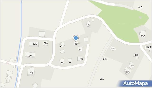 Radlna, Radlna, 93, mapa Radlna