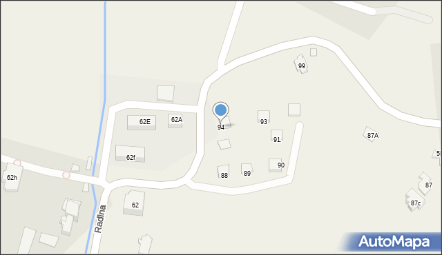 Radlna, Radlna, 94, mapa Radlna
