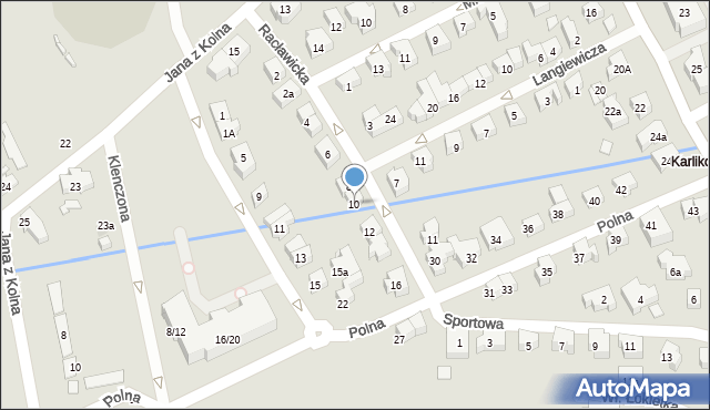 Sopot, Racławicka, 10, mapa Sopotu