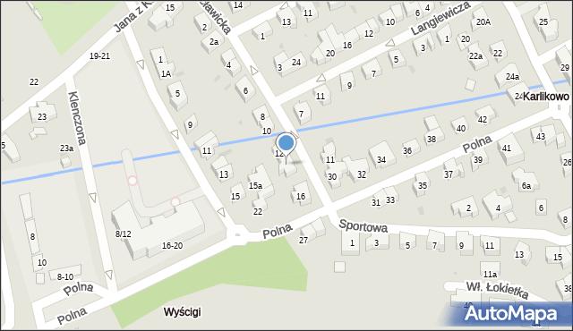 Sopot, Racławicka, 14, mapa Sopotu