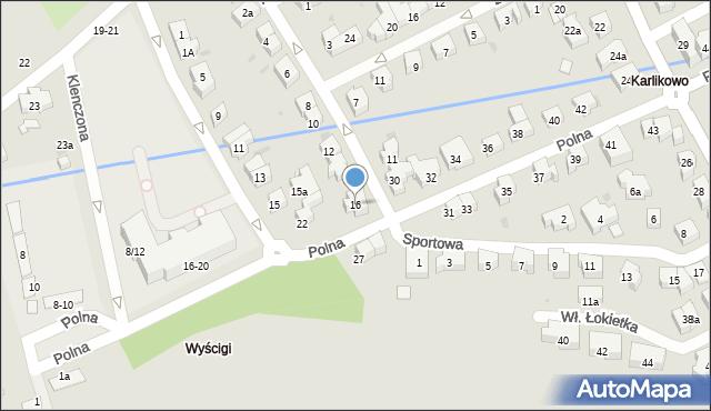 Sopot, Racławicka, 16, mapa Sopotu