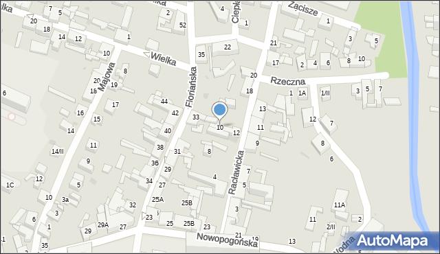 Sosnowiec, Racławicka, 10, mapa Sosnowca