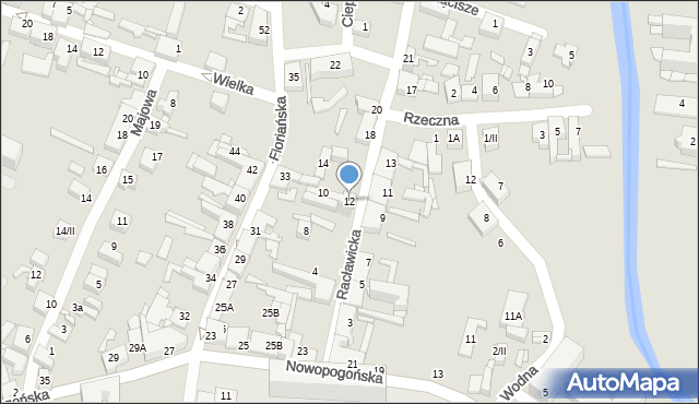 Sosnowiec, Racławicka, 12, mapa Sosnowca