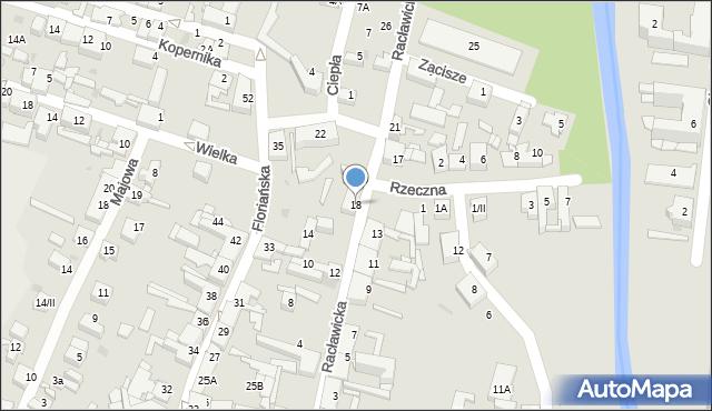 Sosnowiec, Racławicka, 18, mapa Sosnowca