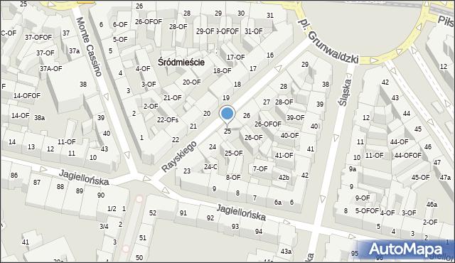 Szczecin, Rayskiego Ludomiła, gen., 25, mapa Szczecina