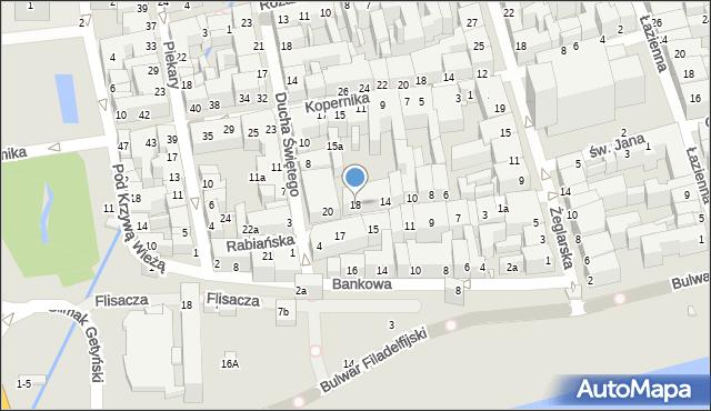 Toruń, Rabiańska, 18, mapa Torunia