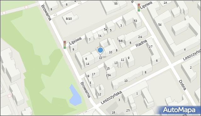 Warszawa, Radna, 12, mapa Warszawy