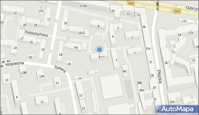 Warszawa, Rabsztyńska, 5, mapa Warszawy