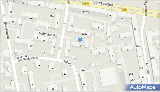 Warszawa, Rabsztyńska, 7/9, mapa Warszawy