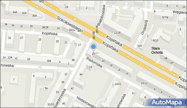Warszawa, Radomska, 22, mapa Warszawy