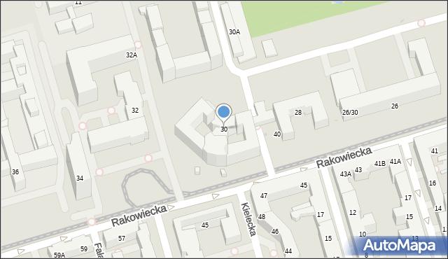 Warszawa, Rakowiecka, 30, mapa Warszawy