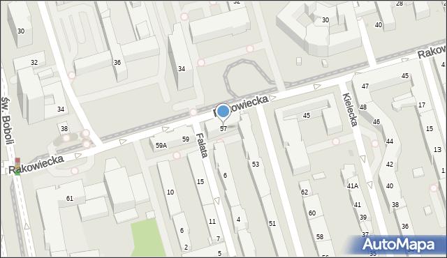 Warszawa, Rakowiecka, 57, mapa Warszawy