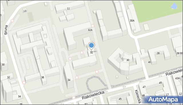 Warszawa, Rakowiecka, 32, mapa Warszawy