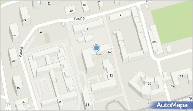 Warszawa, Rakowiecka, 32p, mapa Warszawy