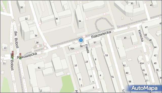 Warszawa, Rakowiecka, 59, mapa Warszawy