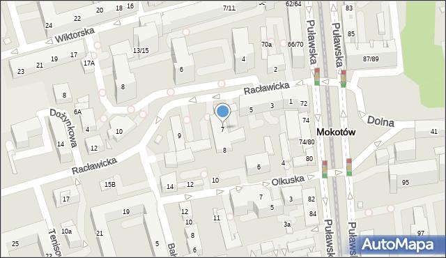 Warszawa, Racławicka, 7, mapa Warszawy
