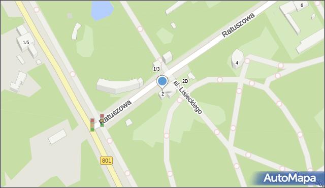 Warszawa, Ratuszowa, 2, mapa Warszawy