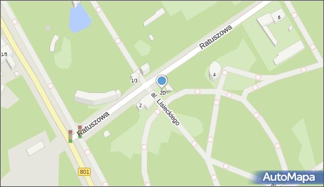 Warszawa, Ratuszowa, 2D, mapa Warszawy