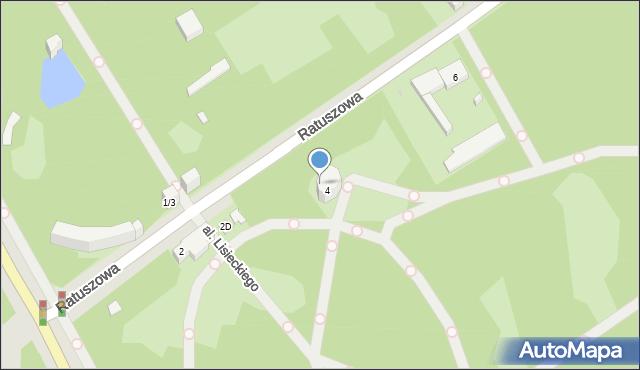 Warszawa, Ratuszowa, 4A, mapa Warszawy