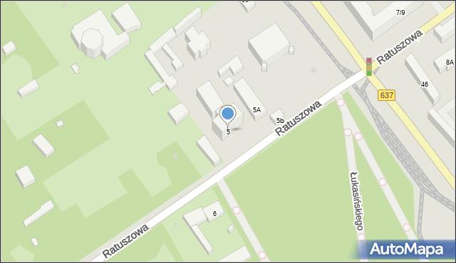 Warszawa, Ratuszowa, 5, mapa Warszawy