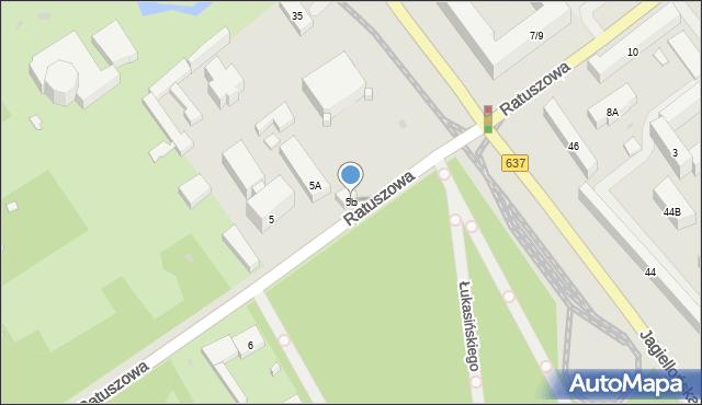 Warszawa, Ratuszowa, 5b, mapa Warszawy