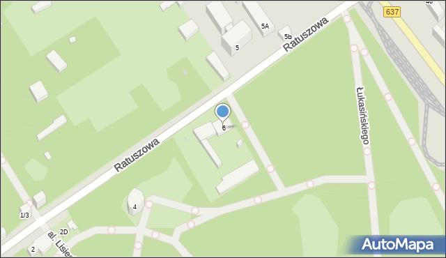Warszawa, Ratuszowa, 6, mapa Warszawy