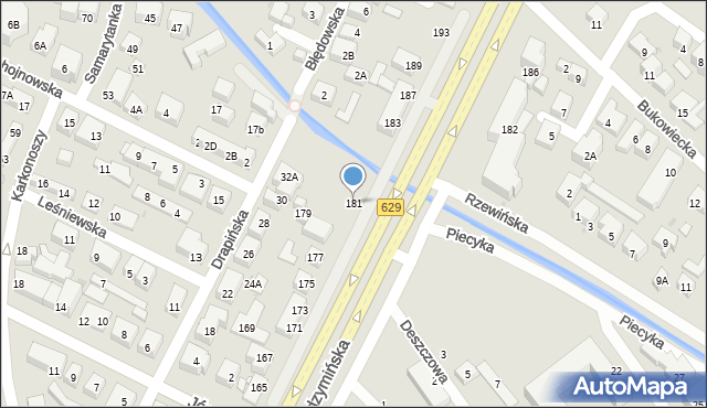 Warszawa, Radzymińska, 181, mapa Warszawy