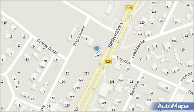 Warszawa, Radzymińska, 225, mapa Warszawy