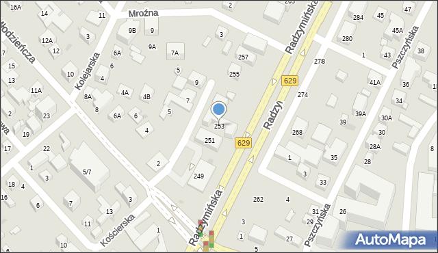 Warszawa, Radzymińska, 253, mapa Warszawy