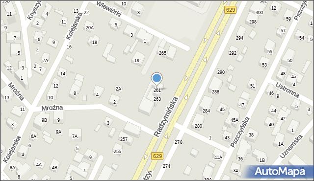 Warszawa, Radzymińska, 261, mapa Warszawy