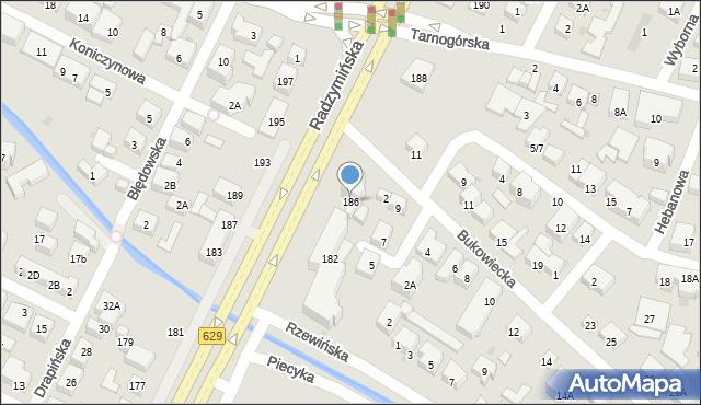 Warszawa, Radzymińska, 186, mapa Warszawy